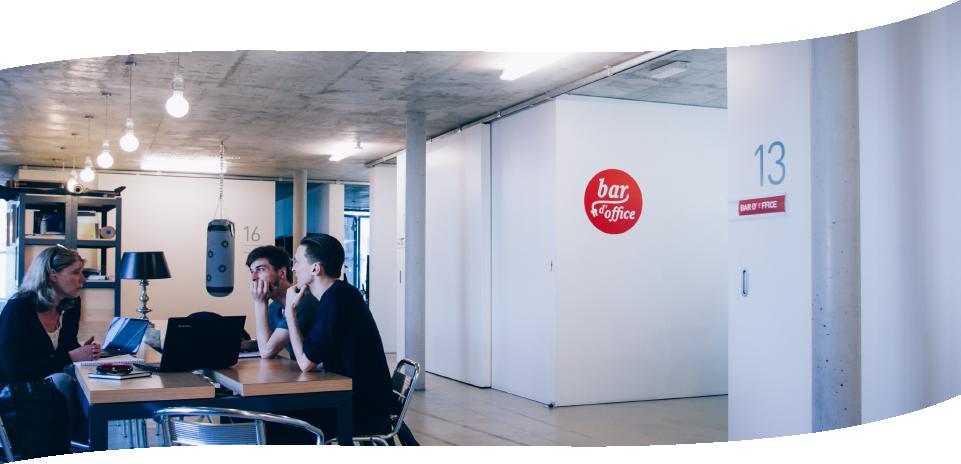 Evolutie van Coworking en Bar d'Office - De Winkelhaak