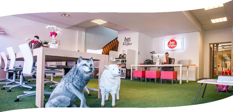 Evolutie van Coworking en Bar d'Office - Flanders DC